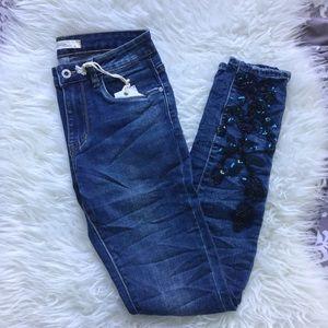 clmayfae Jeans - 🆕 Embellished Floral Skinnies